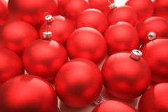 Christmas decoration. Red christmas decoration on white background royalty free stock images