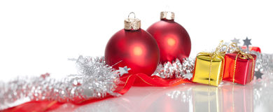 Christmas Decoration. On a white background Stock Images