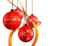Christmas decoration. S on isolated white royalty free stock photo