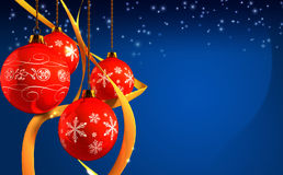 Christmas decoration. S on blue background stock photography