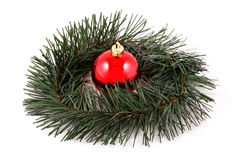 Christmas decoration. On white background Royalty Free Stock Images