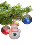 Christmas decoration. Isolated on the white background stock image