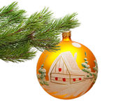 Christmas decoration. Isolated on the white background stock photography