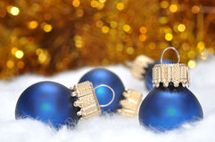 Christmas decoration. Christmas background with blue Christmas decoration Stock Image