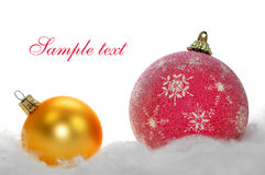 Christmas decoration. Christmas background with Christmas decoration Stock Photos