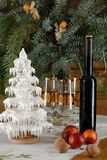 Christmas decoration. With wine bottle Stock Photography