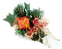 Christmas decoration. On white background stock photo