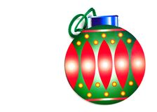 Christmas Decoration. Christmas Ball Decoration  on white background with room for text Royalty Free Stock Photography