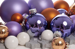 Christmas decoration. On a white background stock photography