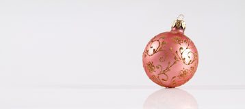 Christmas decoration. Festive Christmas decoration on the white background Royalty Free Stock Photography