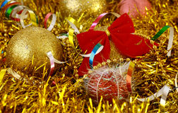 Christmas decoration. Christmas balls, ornaments and decoration Royalty Free Stock Photos