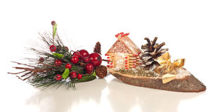 Christmas decoration. Different Christmas decoration on a white background Stock Photography