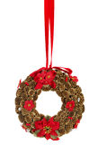 Christmas decoration. Christmas wreath, isolated on white background royalty free stock images
