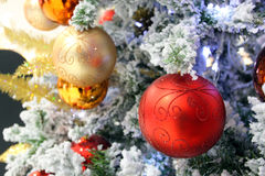 Christmas Decoration. Close up of Christmas Decoration on Tree Stock Photography