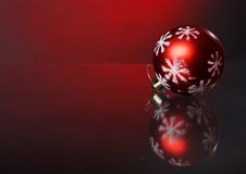 Christmas decoration. In red background Royalty Free Stock Images