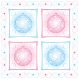 Christmas decoration. Decorative design with christmas balls Vector Illustration