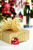 Christmas decoration. On Christmas tree background Stock Photo