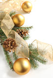 Christmas  decoration. With ball and pinecone Royalty Free Stock Images