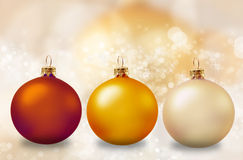 Christmas decoration. With balls and ribbons Royalty Free Stock Photos