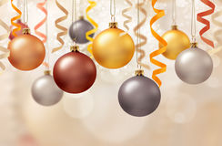 Christmas decoration. With balls and ribbons Stock Photography