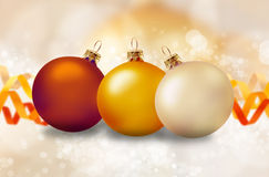 Christmas decoration. With balls and ribbons Royalty Free Stock Image