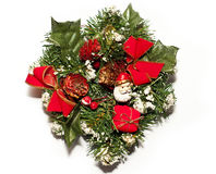 Christmas decoration. With Santa, ribbons and presents Stock Images