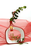 Christmas decoration. Isolated Christmas decoration with red theme Stock Image