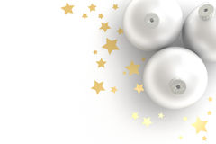 Christmas Decoration. White christmas balls over a white background royalty free illustration