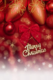 Christmas decoration. On red background Stock Photography