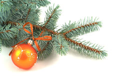 Christmas decoration. With the bauble Royalty Free Stock Image