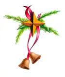 Christmas decoration. Hand drawn illustration Royalty Free Stock Photography