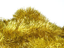 Christmas decoration. Gold blue closeup holiday december Stock Images