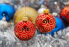 Christmas decoration. With colored balls Royalty Free Stock Image