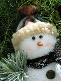 Christmas decoration. Christmas tree decoration.Snow man close-up Royalty Free Stock Photo