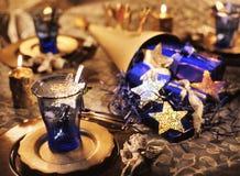 Christmas decoration. On the table stock photos