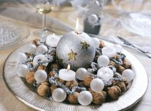Christmas decoration. On the table royalty free stock photography