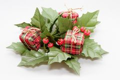 Christmas Decoration. Mistletoe and Presents Christmas Decoration Royalty Free Stock Photography