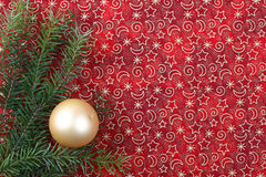 Christmas decoration. Red christmas background with decoration stock images