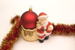 Christmas decoration. Santa - christmas decoration Royalty Free Stock Image