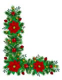 Christmas Decoration. Christmas flower, Christmas tree, Christmas Eve Royalty Free Stock Photos