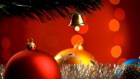 Christmas decoration stock footage