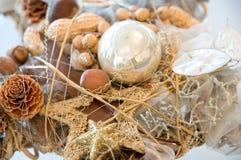 Christmas decoration. On an advent wreath Royalty Free Stock Photos