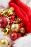 Christmas Decoration. Holidays Season. Christmas decorative ornaments stock photography