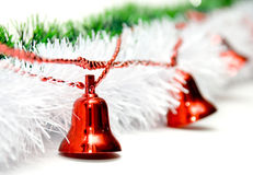 Christmas decoration. With red bells Royalty Free Stock Photo