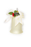 Christmas decoration. Glass the christmas decoretion - ornate a handbell Royalty Free Stock Images