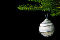 Christmas Decoration. Some christmas decoration on black stock photography