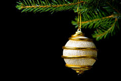 Christmas decoration. Some christmas decoration isolated on black royalty free stock photo
