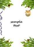 Christmas decoration. Isolated on white background Stock Photos