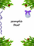 Christmas decoration. Isolated on white background Royalty Free Stock Images