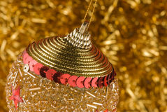 Christmas decoration. On golden background Stock Images